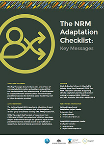 AdaptNRM Adaptation planning key messages