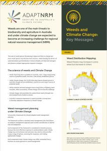 Picture of front page of Weeds and Climate change key messages