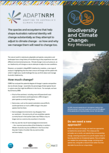 Biodiversity key messages cover page